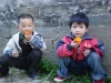 Eating persimmons, Anhui
